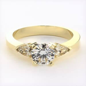 Three Stones Engagement Rings Three Stone Wedding Rings Goldenet